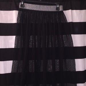 H&M sheer black long skirt